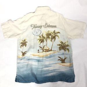 Tommy Bahama Shirt Hawaiian Paradise palm trees